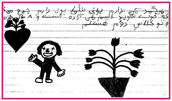 Mohammad, I have money for you. I wish you get better. My name is Azadeh and I am 8 years old.